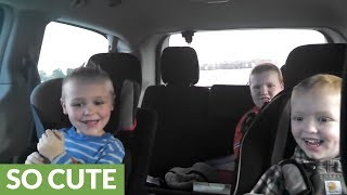 Kids (very different) reactions to mom being pregnant with twins