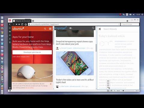 Vivaldi web browser - Tiling