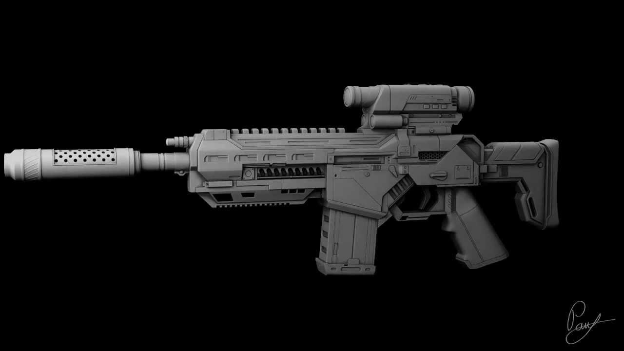 ax7 assault rifle concept youtube