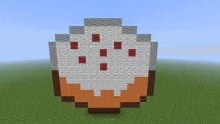 как построить торт в minecraft
