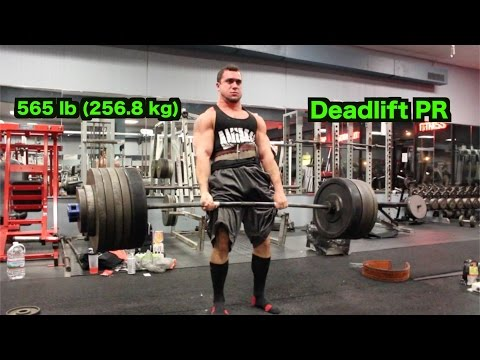 565 lb (256.8 kg) Deadlift PR - Mike Rosa, 20 years old, 188 lbs)