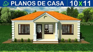 🔴 Planos de casa GRATIS SENCILLA ►3 Dormitorios ►2 Baños