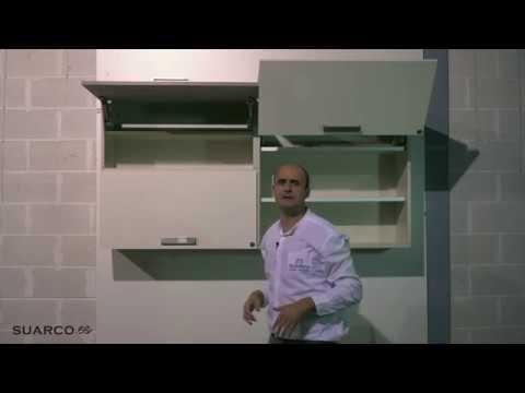 Tipos de aperturas de muebles altos en cocinas por bisa for Herrajes para polyboard