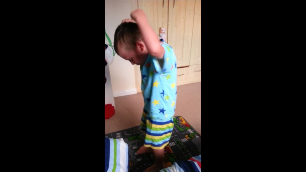 little boy moooning ass