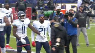 Ravens John Harbaugh and Titans Malcolm Butler HEATED EXCHANGE Pre-Game
