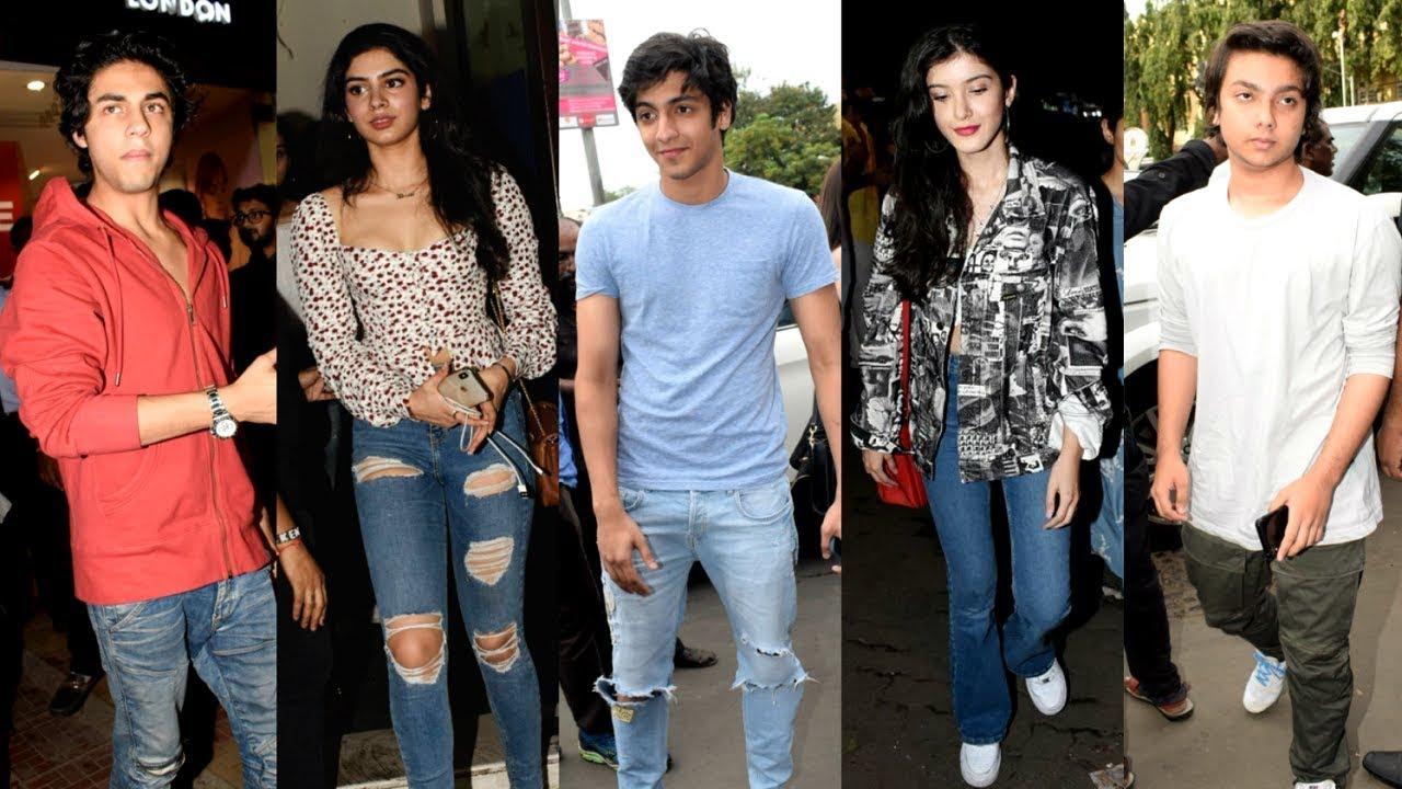 Bollywood Star Kids Celebrates Friendship Day Together - Aryan Khan, Khushi Kapoor, Ahaan Pandey
