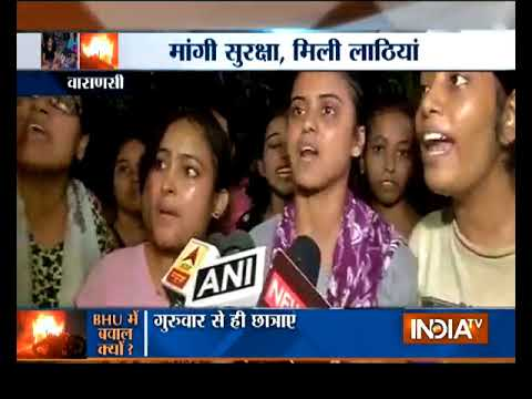 BHU molestation case: Police baton-charge female students protesting against eve-teasing