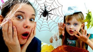 Nastya and Funny Story Halloween Trick or Treat and Makeup