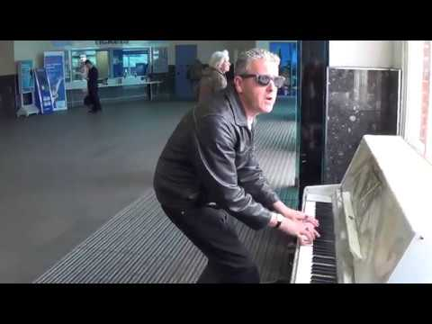 Boogie Woogie Dude Rock n Rolls The Station Piano