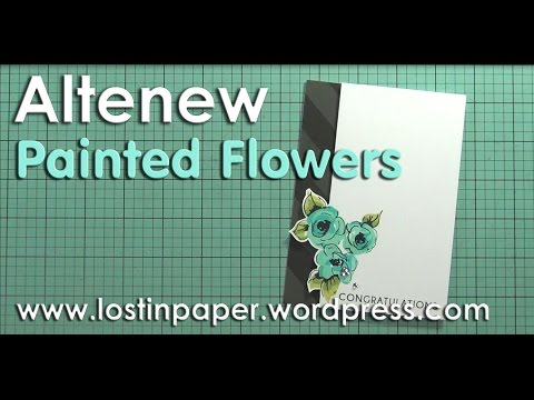 How I stamp Altenew Painted Flowers!