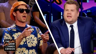 James Corden Deals with Persistent Heckler