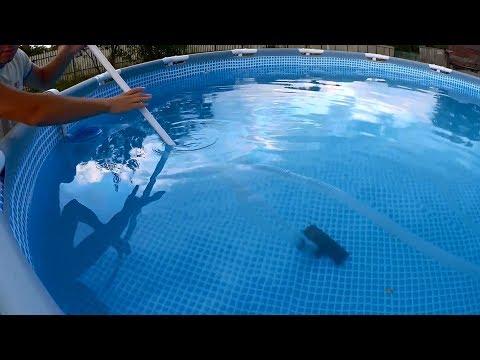 Как работает пылесос для бассейна видео