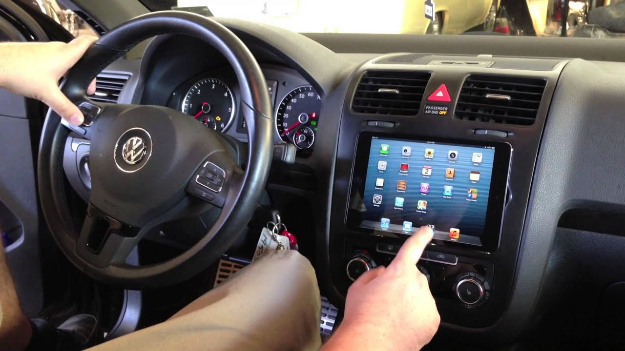 Soundwaves Of Tampa Installs Ipad Mini Into 2010 Vw Jetta