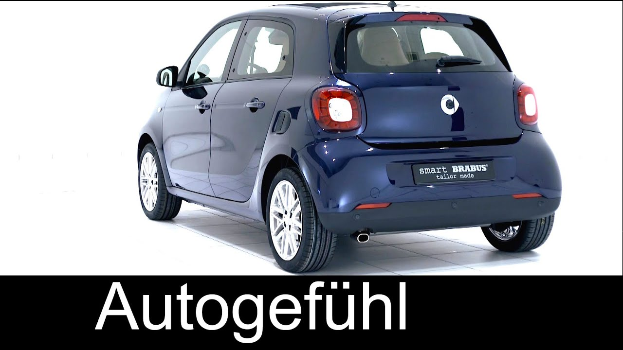 all new smart forfour brabus tailor made 2016 2015 exterior interior autogef hl youtube. Black Bedroom Furniture Sets. Home Design Ideas