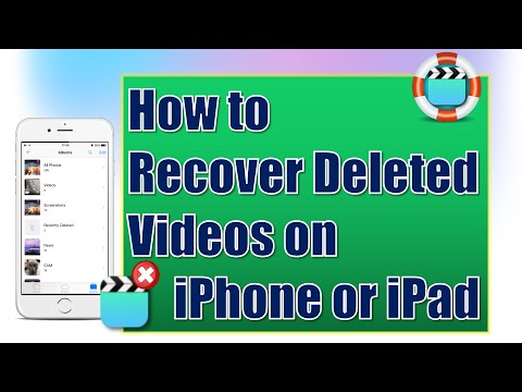 How to Recover Deleted Videos from iPhone or iPad for Free