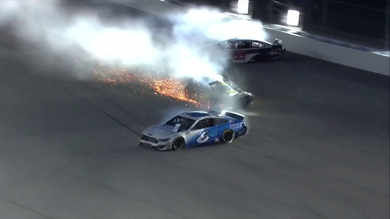 WILD crashes at Kansas Speedway | NASCAR