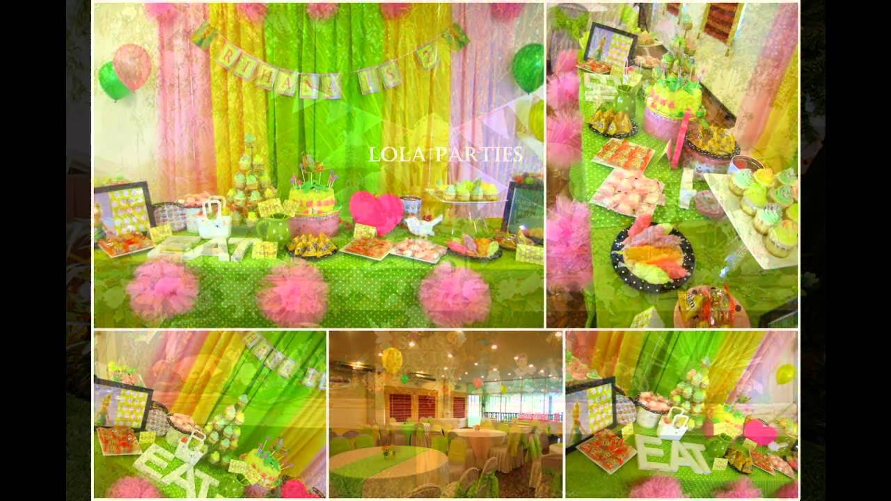 Cute Tinkerbell Themed Birthday Party Ideas Youtube Rh Youtube Com