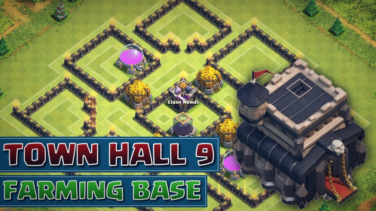 Th9 Home Base Design Part - 39: Clash Of Clans - *NEW BEST* Town Hall 9 (TH9) Farming Base! 4 Mortars -  2015 - YouTube