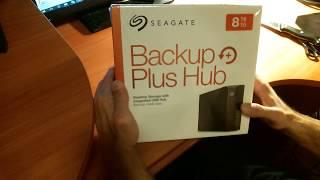 Seagate Backup Plus Hub 8TB External Hard Drive Unboxing