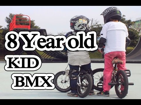 8 year old kid BMX freestyle tricks