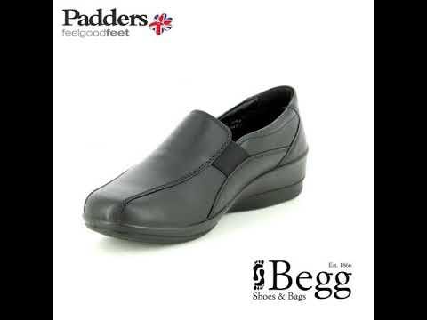 Padders Skye 2 E-ee Fi 253-10 Black leather comfort shoes