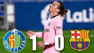 Barça returned to la liga action following the international break with a surprise defeat against getafe, courtesy of dubious penalty scored by mata. antoi...