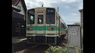 紀州鉄道 KR205号車 エンジン音(PE6HT03A) 西御坊駅にて