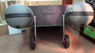 Транцевые колёса для надувных лодок ПВХ. +79217533002(Фото в высоком разрешении тут: http://www.wellbuy.su Весь металл - нержавейка. Цена коротких: 4200 руб. Цена длинных:..., 2013-04-13T19:32:05.000Z)