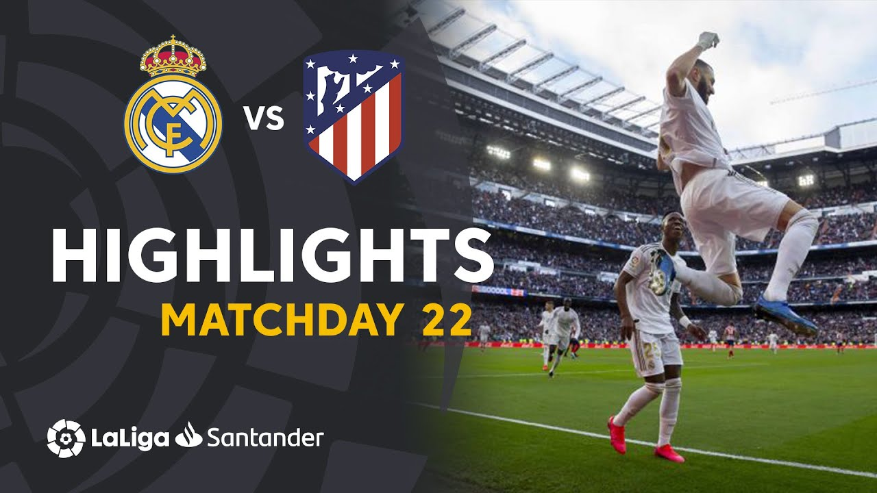 Highlights Real Madrid vs Atletico Madrid (1-0)