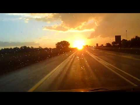 Drive into the Sunset -From Ermelo towards Johannesburg