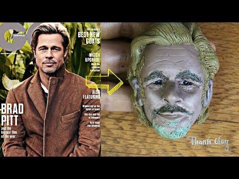 Clay art - Making Brad Pitt with Polymer clay