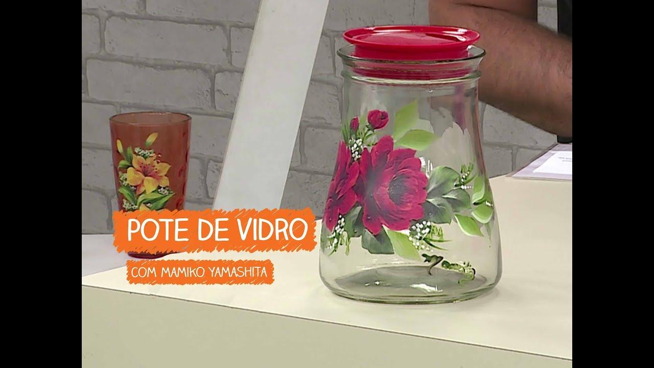 Aparador Mesa Retratil ~ Pote de Vidro com Mamiko Vitrine do Artesanato na TV Rede Família YouTube
