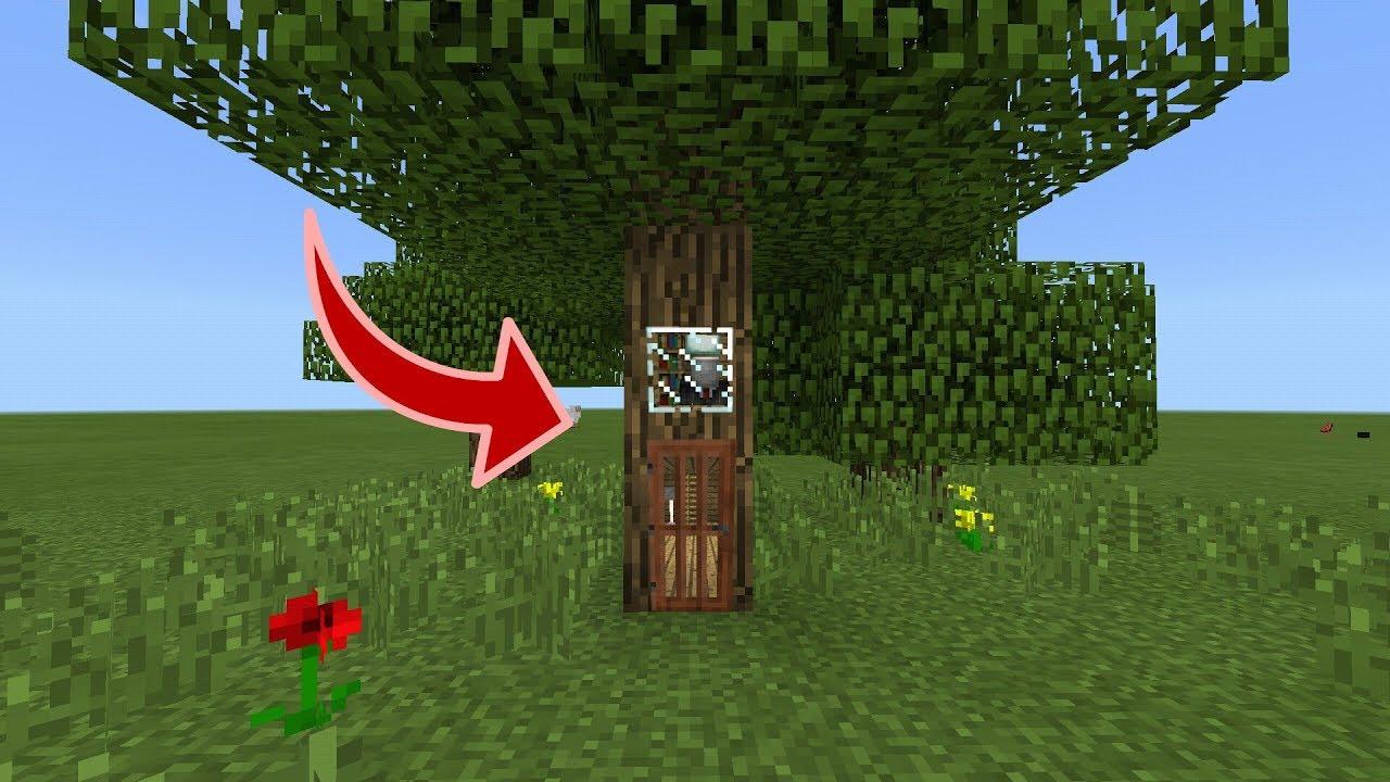 LÀM THẾ NÀO ĐỂ SỐNG TRONG 1 CÁI CÂY TRONG MCPE | Minecraft PE 1.2