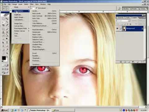 Xử lý ảnh photoshop-Xử lý mắt đỏ photoshop HocPhotoshop.Com