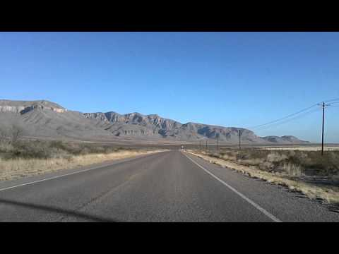 Van Horn, Texas to Guadalupe Mountains National Park