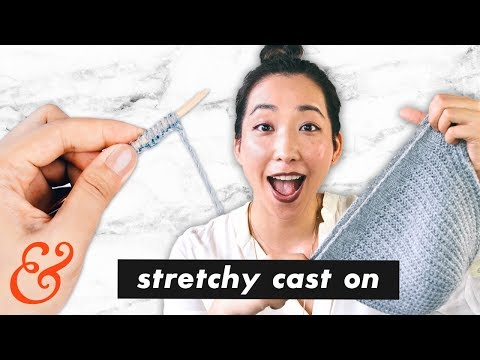 How to Knit a STRETCHY CAST ON (aka. German Twist Cast On)