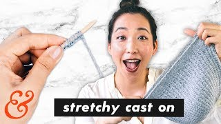 How to Knit a STRETCHY CAST ON (aka. German Twist Cast On)