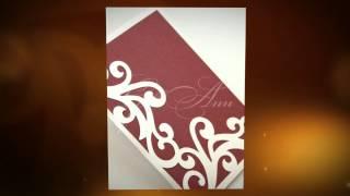 Пригласительные на свадьбу Gilliann Burgundy