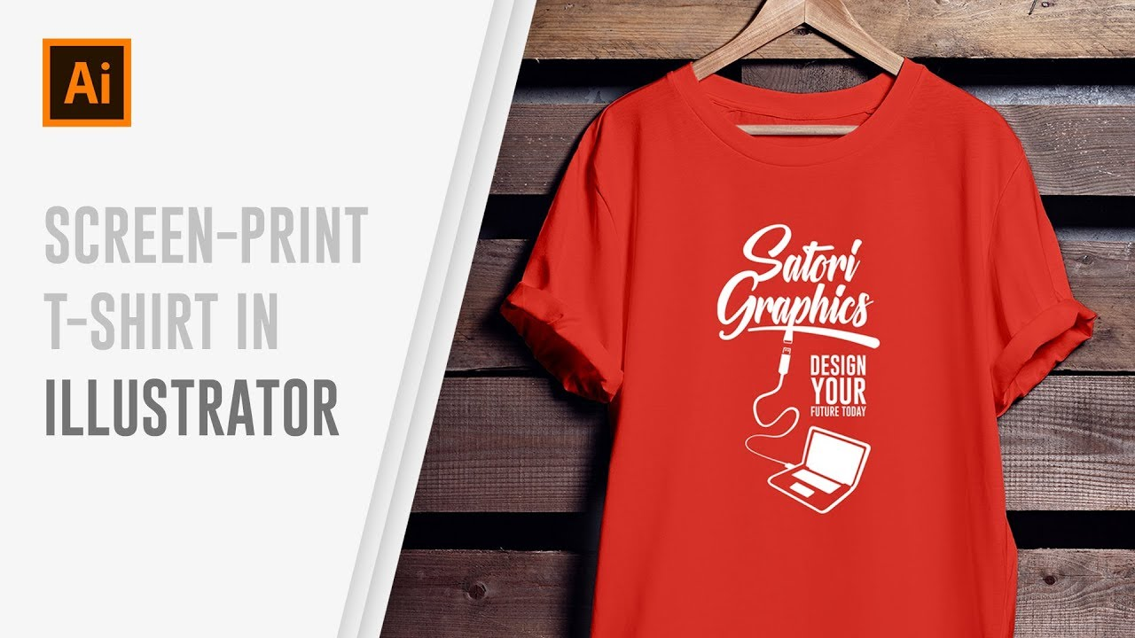 How To Design Screen Print T-Shirts In Illustrator - YouTube