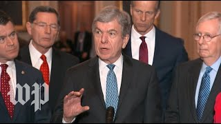 Senate leadership speaks to reporters