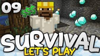 FORTUNE & DIAMONDS! - Survival Let's Play Ep. 09 - Minecraft Bedrock (PE W10 XB1)