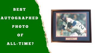 Nolan Ryan and Robin Ventura Dual Signed 16x20 Fight Photo Framed PSA DNA COA