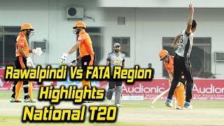 Match 16 | Rawalpindi Region vs FATA Region | Highlights | National T20 Cup 2018 | PCB