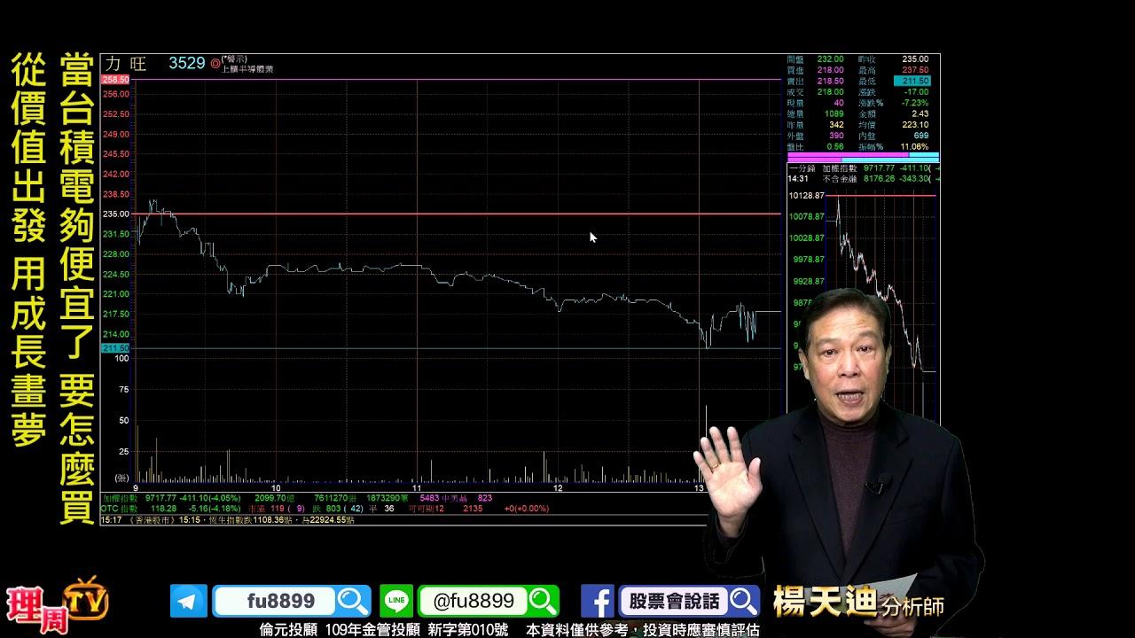 理周TV-20200316 盤後-楊天迪 股票會說話/當臺積電夠便宜了 要怎麼買 從價值出發 用成長畫夢 - YouTube