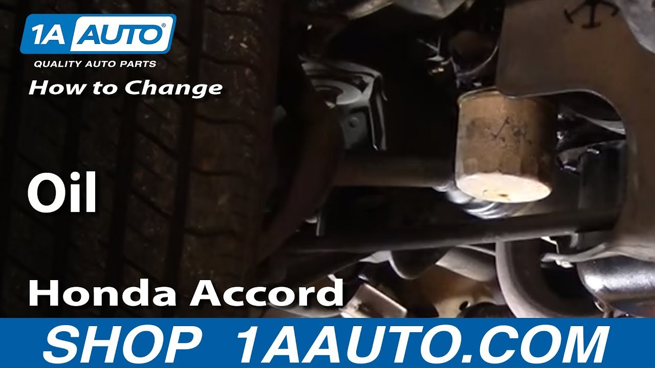 change oil   cars subject car   honda accord youtube