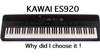 Kawai es920 Talk. The Piano players choice ?