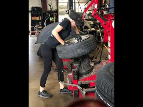 Girl Is Changing Tire Youtube