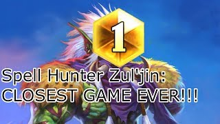 Hearthstone Spell Hunter: CLOSEST GAME EVER!!!