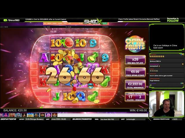 Opal Fruits SUPER MEGA BIG WIN Big Time Gaming