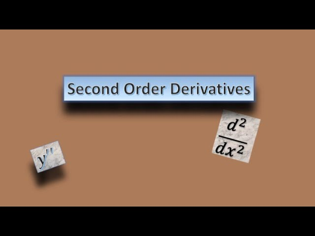 Second Order Derivatives-Mathematics-Class 12-ISC-CBSE